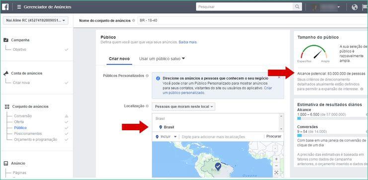 Segmentação de público no Facebook Ads