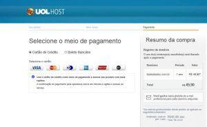 Pagamento para registro de domínio