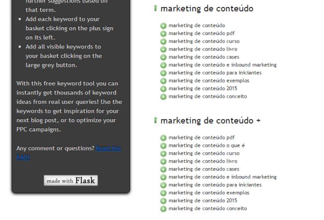 Palavra-Chave Marketing de Conteúdo