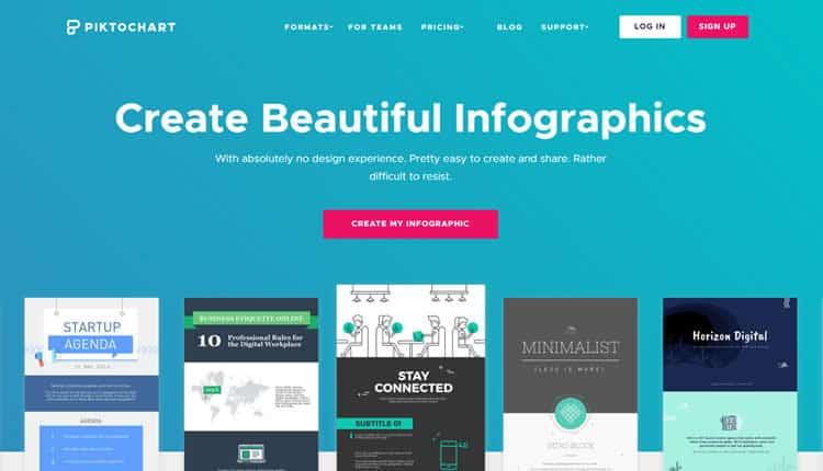 Site para Criação de Infográficos -  Piktochart