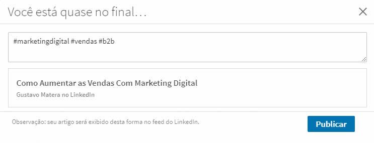 Marketing no LinkedIn - Hashtags