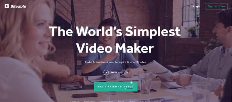 Biteable - Crie vídeos com qualidade e agilidade.
